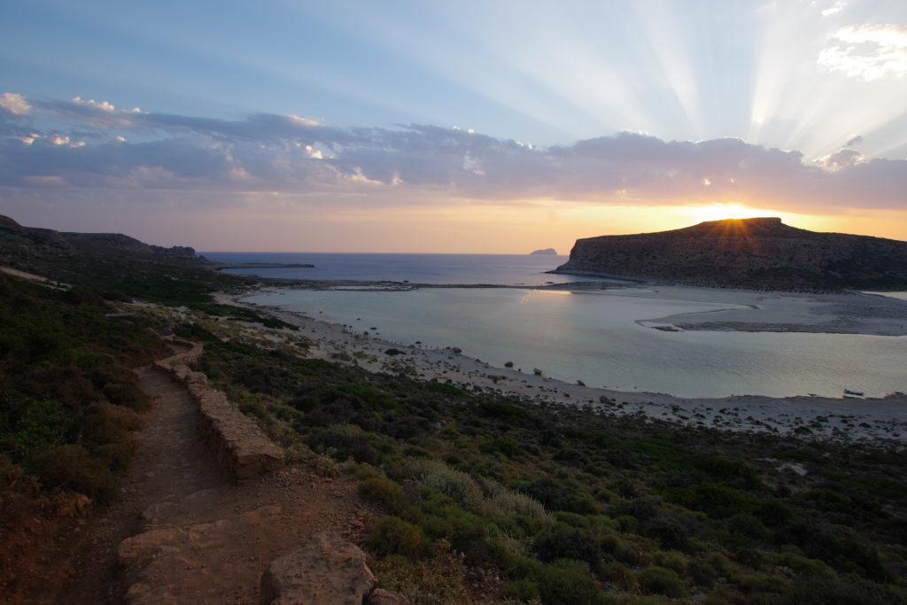Balos Beach: Sonnenuntergang