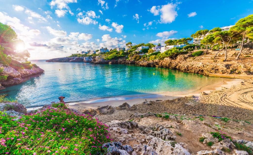 Klimatabelle Mallorca: Strand Cala Esmeralda bei Cala d'Or