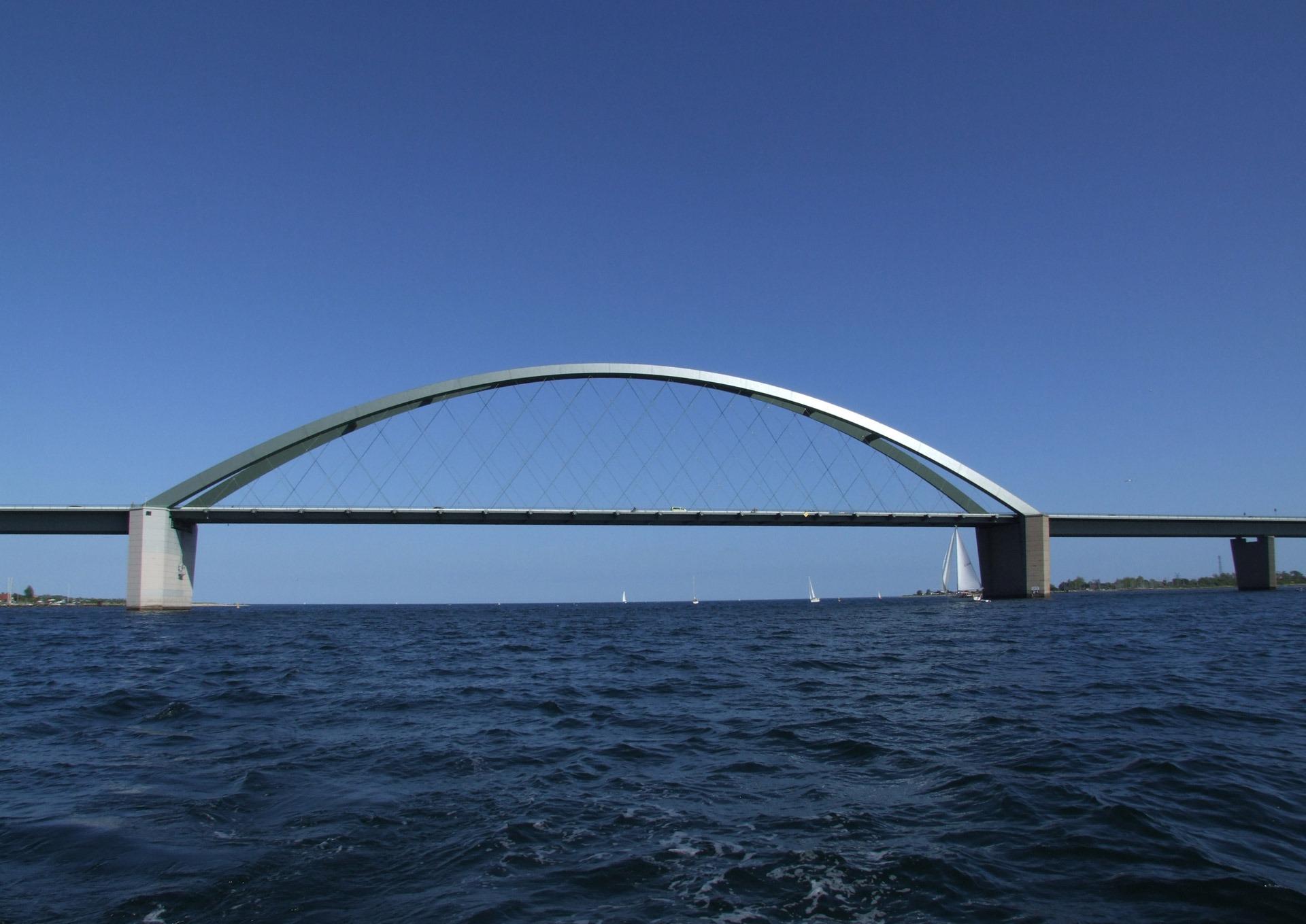 Wassertemperatur Fehmarn: Fehmarnsundbrücke mit Ostsee