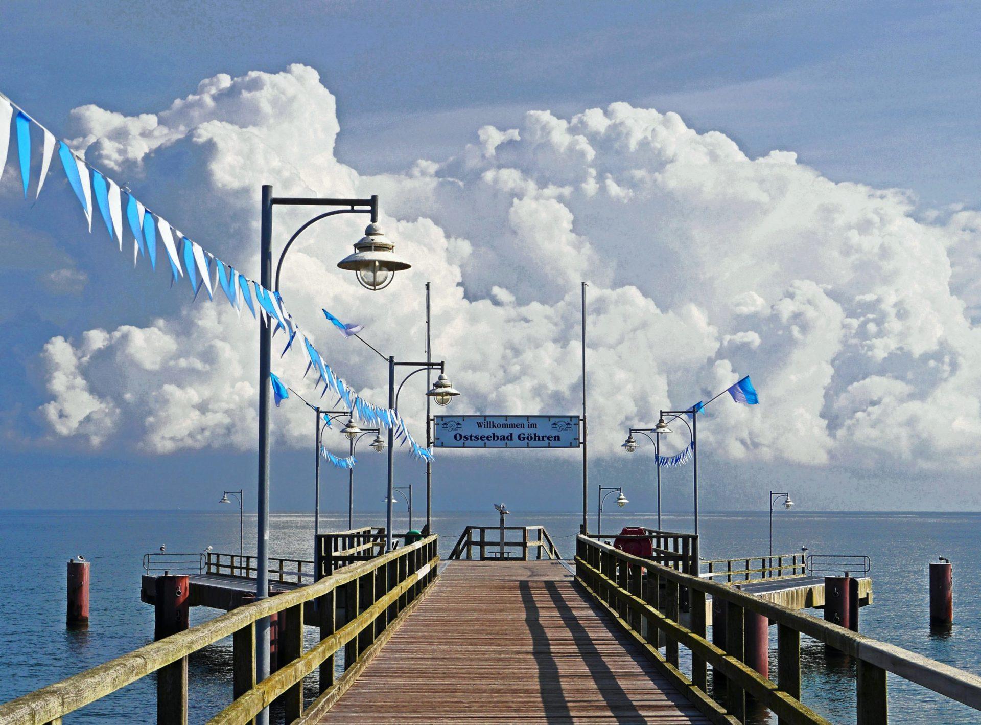 Wassertemperatur Göhren: Seebrücke am Nordstrand von Göhren