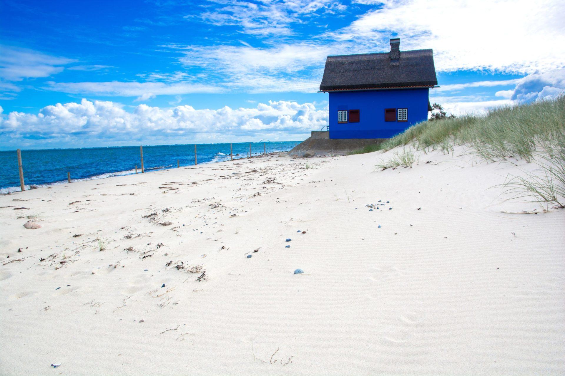 Wassertemperatur Heiligenhafen: Strandvilla Blaues Haus auf Landzunge im Naturschutzgebiet Graswarder