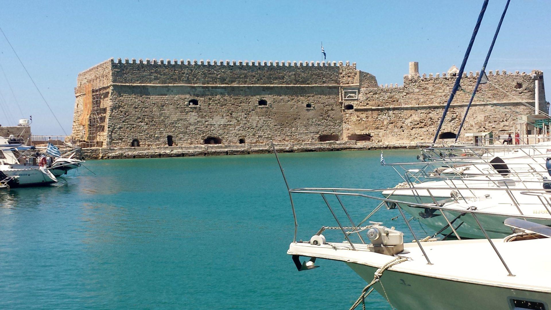 Wassertemperatur Heraklion: Hafenfestung Koules am venezianischen Hafen (Rocca al Mare)
