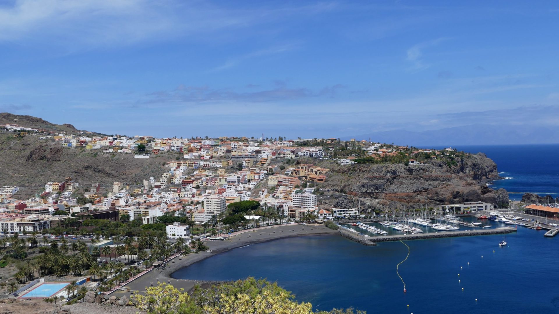 Wassertemperatur La Gomera: Hauptstadt San Sebastián de La Gomera mit Hafen