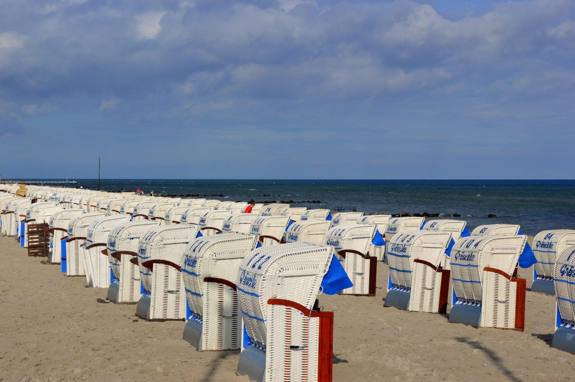 Wassertemperatur Timmendorfer Strand: Strandkörbe am Timmendorfer Strand